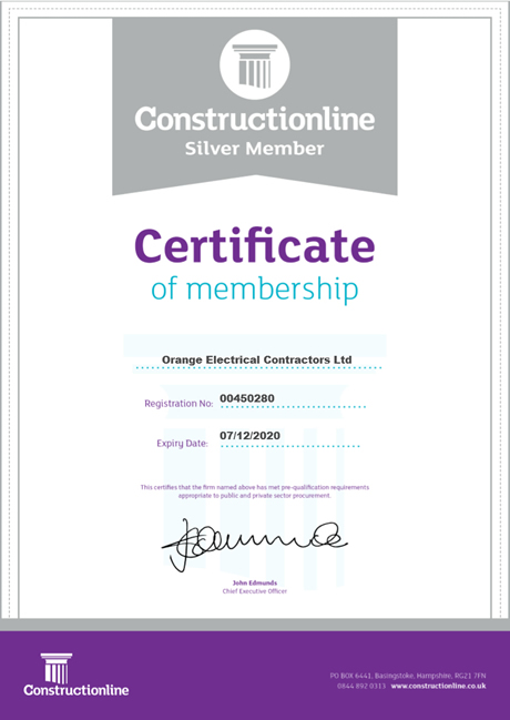 Construction line silver accreditation